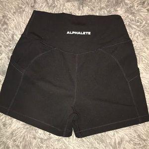"Alphalete 2.5"" inseam shorts with pockets"